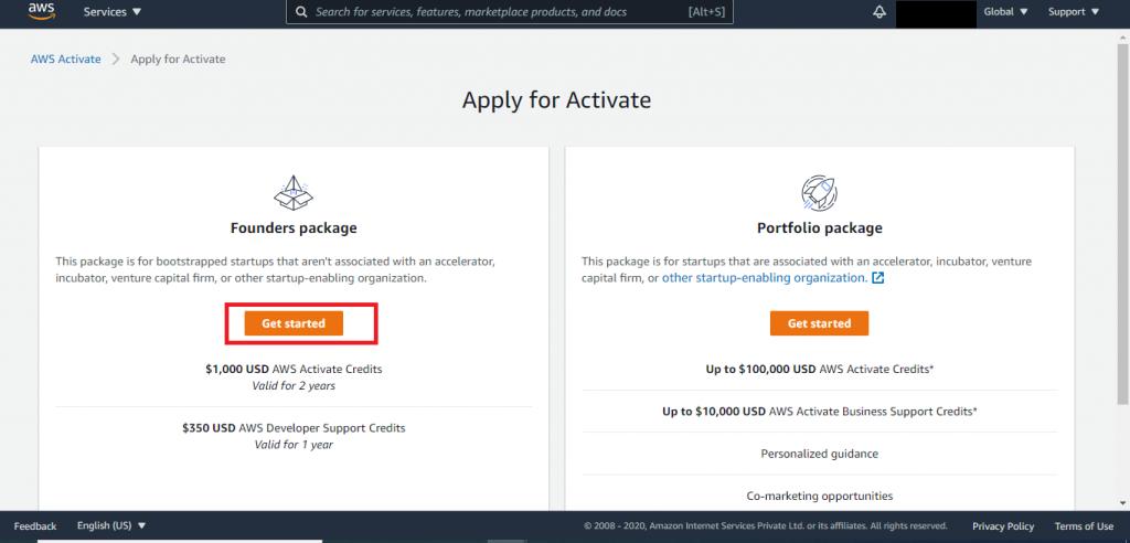 AWS Credits AWS Activate